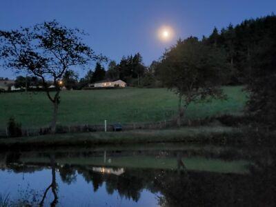 Ansicht Ferienhaus am Abend